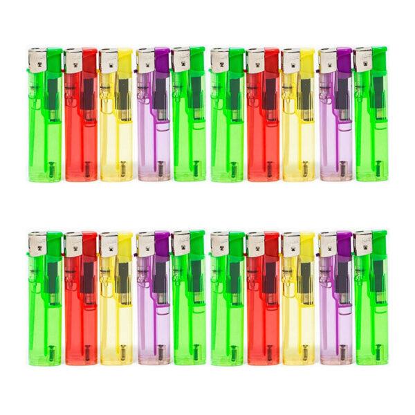 فندک ساده شفاف مکس بسته 50 عددی مجموعه 20 عددی (کارتنی)