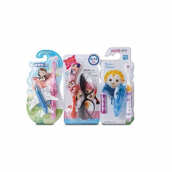 مسواک کودک جایزه دار طرح عروسکی بسته 12 عددی