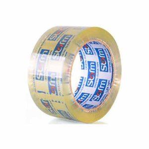 نوار چسب پهن شفاف 50 یارد بسته 6 عددی