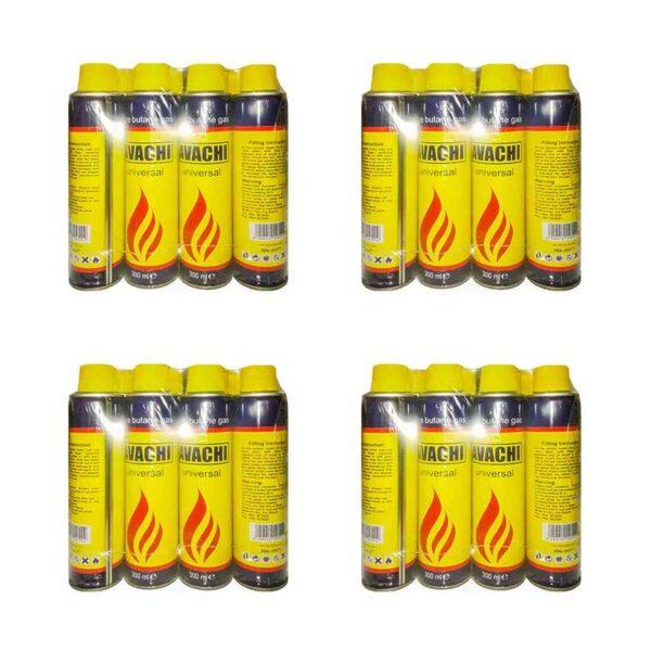 کپسول گاز فندک 300 میلی لیتر بسته 12 تایی مجموعه 4 عددی (کارتنی)