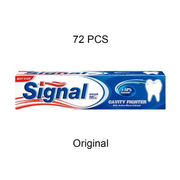 خمیر دندان سیگنال اصلی حجم 50 میلی لیتر بسته 72 عددی (کارتنی)