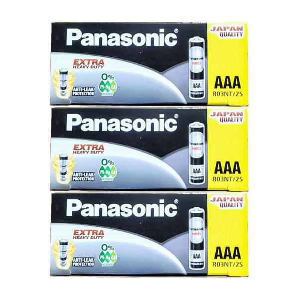 باتری نیم قلمی پاناسونیک 10 بسته 60 عددی (کارتنی)