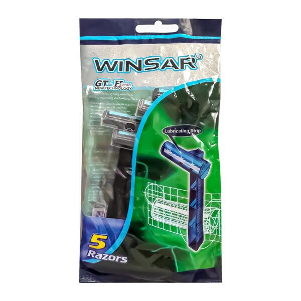 خود تراش WINSAR مدل GT-H Super پاکت 5 تایی بسته 20 عددی