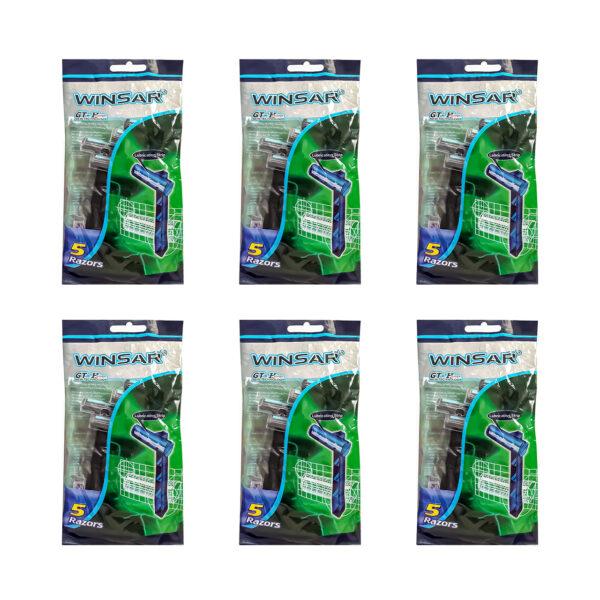 خود تراش WINSAR مدل GT-H پاکت 5 تایی بسته 20 عددی مجموعه 16 عددی (کارتنی)