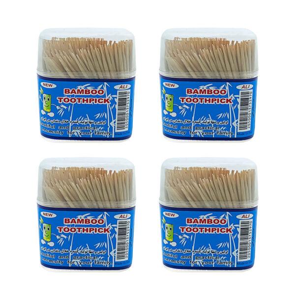خلال دندان بامبو 500 عددی بسته 10 عددی مجموعه 12 عددی (کارتنی)
