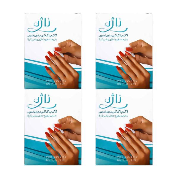لاک پاک کن ناژه ورقه ای بسته 12 تایی مجموعه 12 عددی (کارتنی)