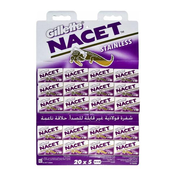 تیغ یدک NACET ورق 20 عددی مجموعه 25 عددی (کارتنی)