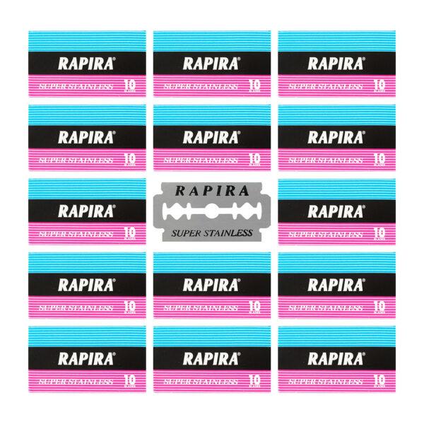 تیغ یدک RAPIRA ورق 20 عددی مجموعه 25 عددی (کارتنی)